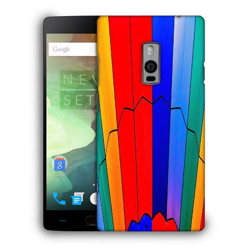 Snoogg Abstract Colors Designer Protective Back Case Cover For OnePlus Two