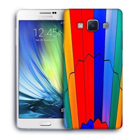 Snoogg Abstract Colors Designer Protective Back Case Cover For Samsung Galaxy A7