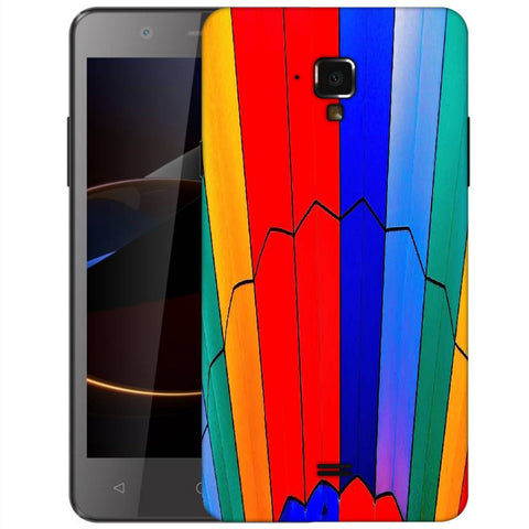 Snoogg Abstract Colors Designer Protective Back Case Cover For Swipe Elite 2 Plus