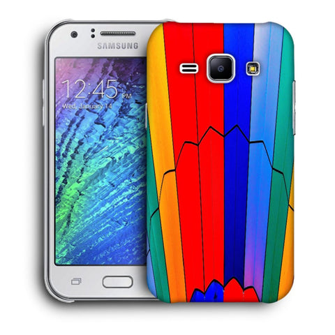 Snoogg Abstract Colors Designer Protective Back Case Cover For Samsung Galaxy J1