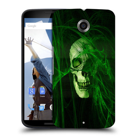 Snoogg Abstract Skull Green Designer Protective Back Case Cover For Motorola Nexus 6