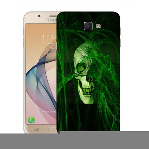 Snoogg Abstract Skull Green Designer Protective Back Case Cover For Samsung Galaxy On Nxt / J7 Prime