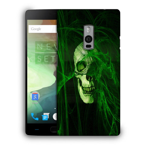 Snoogg Abstract Skull Green Designer Protective Back Case Cover For OnePlus Two