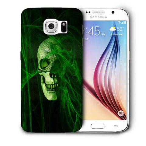 Snoogg Abstract Skull Green Designer Protective Back Case Cover For Samsung Galaxy S6