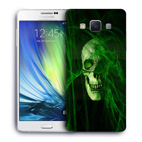 Snoogg Abstract Skull Green Designer Protective Back Case Cover For Samsung Galaxy A7