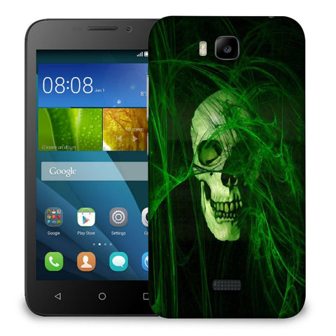 Snoogg Abstract Skull Green Designer Protective Back Case Cover For Huawei Honor Bee