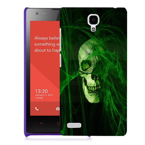 Snoogg Abstract Skull Green Designer Protective Back Case Cover For Xiaomi Redmi Note 2