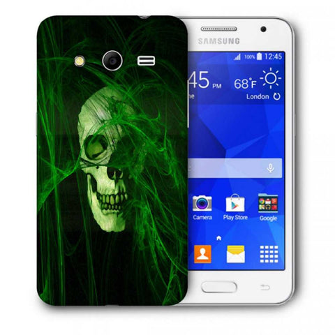 Snoogg Abstract Skull Green Designer Protective Back Case Cover For Samsung Galaxy Core 2