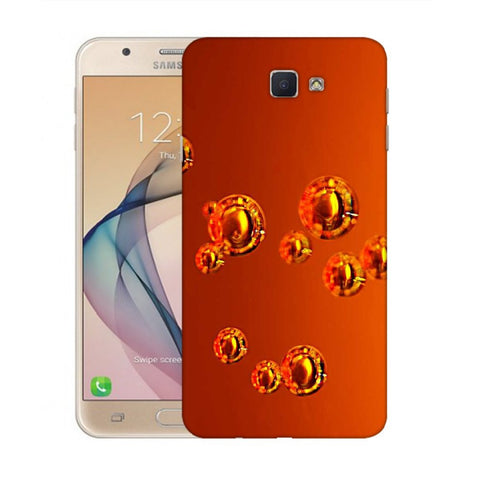 Snoogg Abstract Orange Bubbles Designer Protective Back Case Cover For Samsung Galaxy On Nxt / J7 Prime