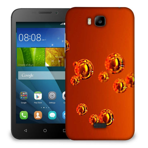 Snoogg Abstract Orange Bubbles Designer Protective Back Case Cover For Huawei Honor Bee