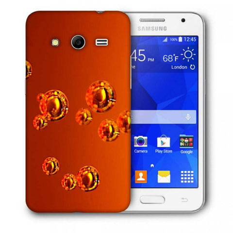 Snoogg Abstract Orange Bubbles Designer Protective Back Case Cover For Samsung Galaxy Core 2