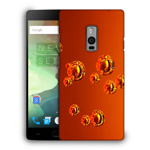 Snoogg Abstract Orange Bubbles Designer Protective Back Case Cover For OnePlus Two