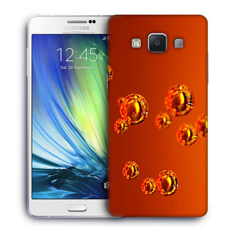 Snoogg Abstract Orange Bubbles Designer Protective Back Case Cover For Samsung Galaxy A7