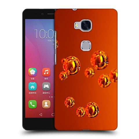 Snoogg Abstract Orange Bubbles Designer Protective Back Case Cover For Huawei Honor 5X