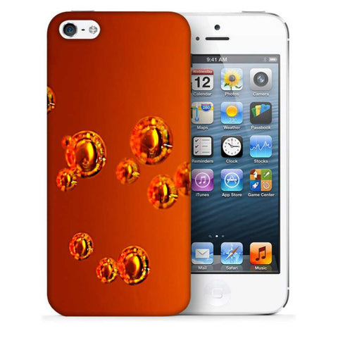 Snoogg Abstract Orange Bubbles Designer Protective Back Case Cover For Apple Iphone SE