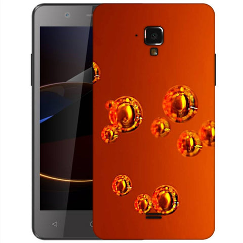 Snoogg Abstract Orange Bubbles Designer Protective Back Case Cover For Swipe Elite 2 Plus