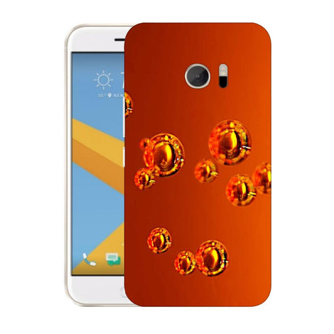 Snoogg Abstract Orange Bubbles Designer Protective Back Case Cover For HTC Desire 10 Lifestyle