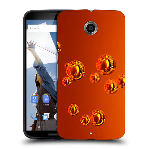 Snoogg Abstract Orange Bubbles Designer Protective Back Case Cover For Motorola Nexus 6