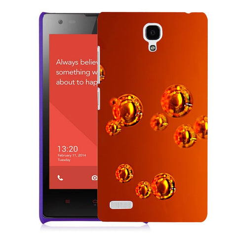 Snoogg Abstract Orange Bubbles Designer Protective Back Case Cover For Xiaomi Redmi Note 2