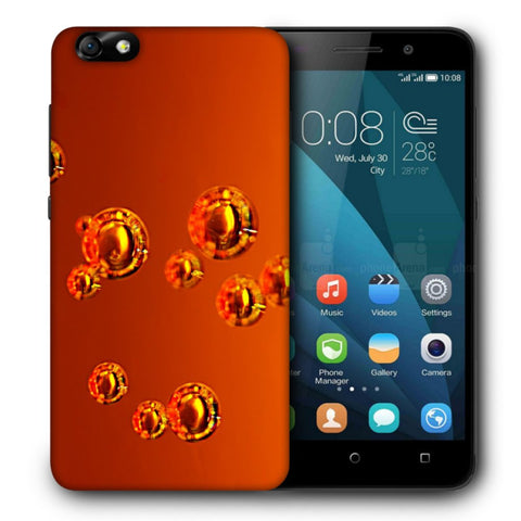 Snoogg Abstract Orange Bubbles Designer Protective Back Case Cover For Huawei Honor 4X