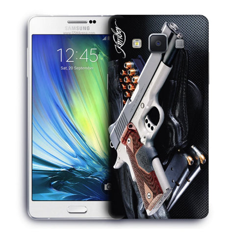 Snoogg Abstract Gun Designer Protective Back Case Cover For Samsung Galaxy A7