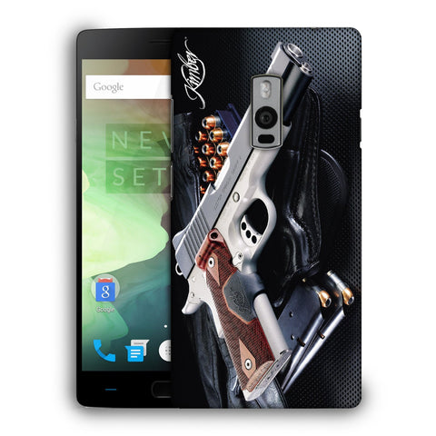 Snoogg Abstract Gun Designer Protective Back Case Cover For OnePlus Two