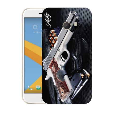 Snoogg Abstract Gun Designer Protective Back Case Cover For HTC Desire 10 Lifestyle