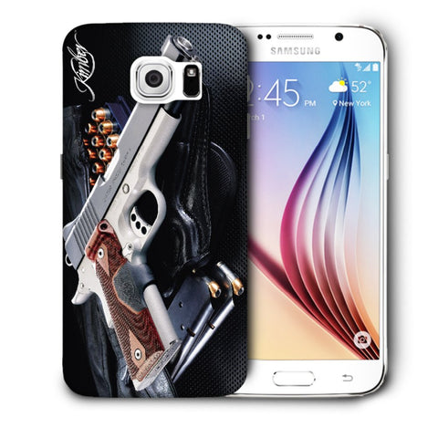 Snoogg Abstract Gun Designer Protective Back Case Cover For Samsung Galaxy S6