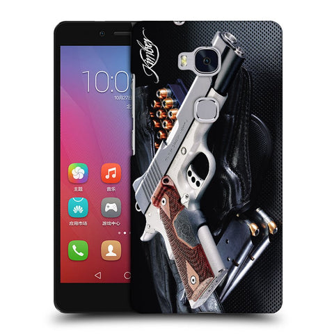 Snoogg Abstract Gun Designer Protective Back Case Cover For Huawei Honor 5X