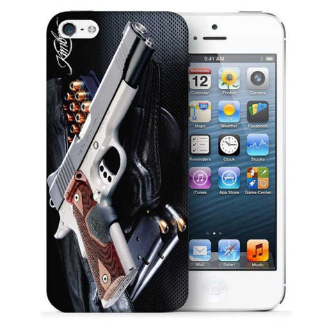 Snoogg Abstract Gun Designer Protective Back Case Cover For Apple Iphone SE