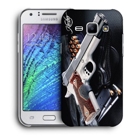 Snoogg Abstract Gun Designer Protective Back Case Cover For Samsung Galaxy J1