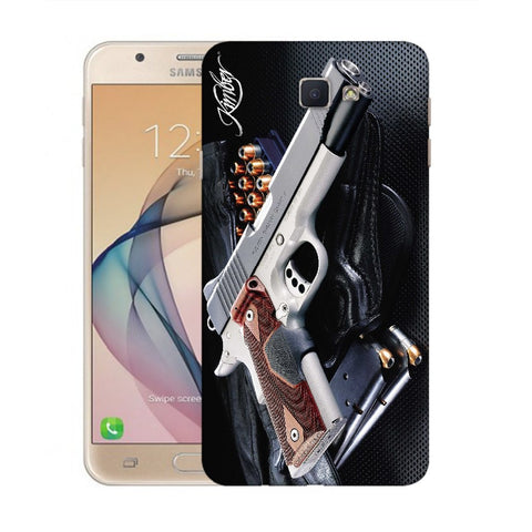 Snoogg Abstract Gun Designer Protective Back Case Cover For Samsung Galaxy On Nxt / J7 Prime