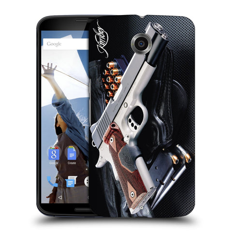 Snoogg Abstract Gun Designer Protective Back Case Cover For Motorola Nexus 6