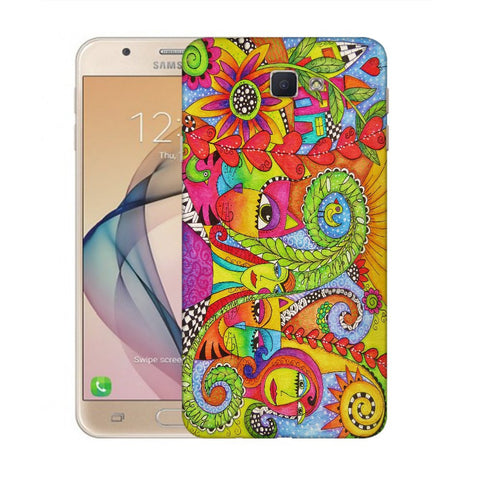 Snoogg Abstract Art Faces Designer Protective Back Case Cover For Samsung Galaxy On Nxt / J7 Prime