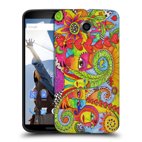 Snoogg Abstract Art Faces Designer Protective Back Case Cover For Motorola Nexus 6