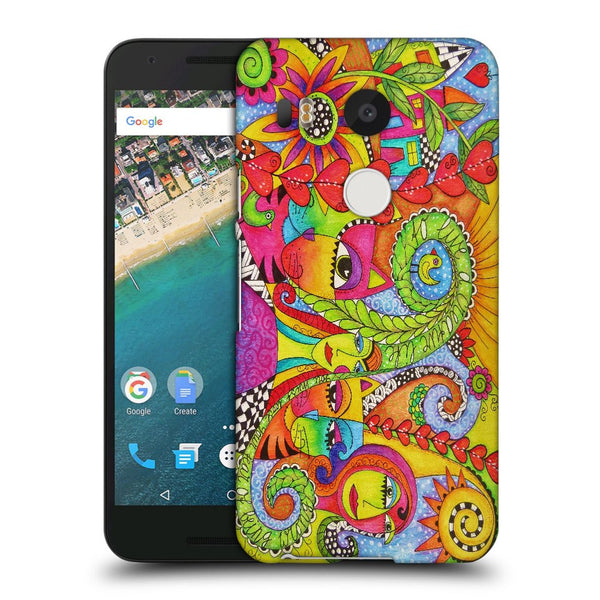 Snoogg Abstract Art Faces Designer Protective Back Case Cover For Lg Nexus 5X
