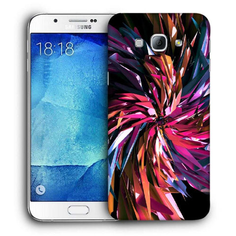 Snoogg Abstract Multicolor Thrones Designer Protective Back Case Cover For Samsung Galaxy A8