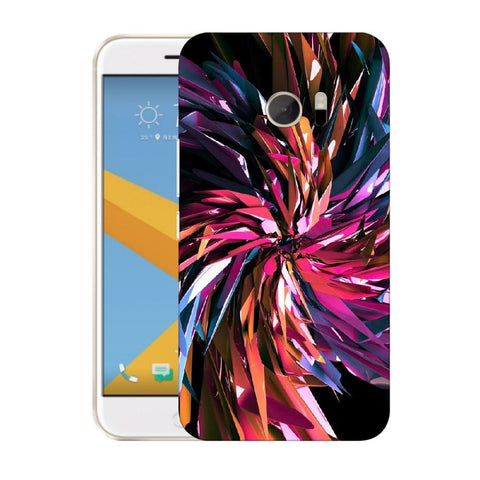 Snoogg Abstract Multicolor Thrones Designer Protective Back Case Cover For HTC Desire 10 Lifestyle