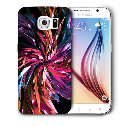 Snoogg Abstract Multicolor Thrones Designer Protective Back Case Cover For Samsung Galaxy S6