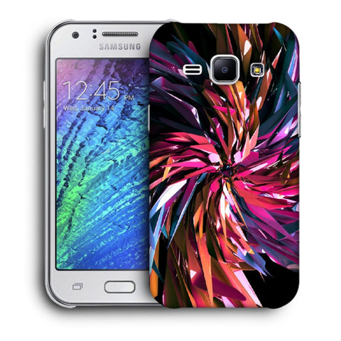 Snoogg Abstract Multicolor Thrones Designer Protective Back Case Cover For Samsung Galaxy J1