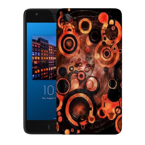 Snoogg Abstract Orange And Black Pattern Designer Protective Back Case Cover For Lenovo Zuk Z2