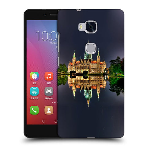 Snoogg Abstract Palace Designer Protective Back Case Cover For Huawei Honor 5X