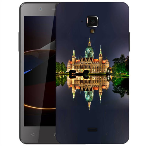 Snoogg Abstract Palace Designer Protective Back Case Cover For Swipe Elite 2 Plus