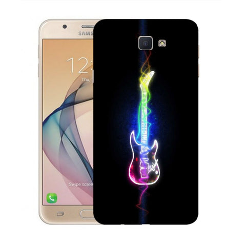 Snoogg Abstract Guitar Designer Protective Back Case Cover For Samsung Galaxy On Nxt / J7 Prime