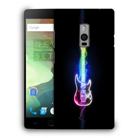 Snoogg Abstract Guitar Designer Protective Back Case Cover For OnePlus Two