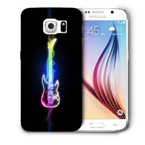 Snoogg Abstract Guitar Designer Protective Back Case Cover For Samsung Galaxy S6
