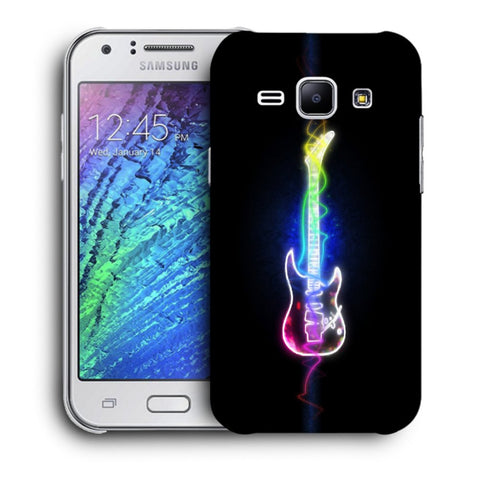 Snoogg Abstract Guitar Designer Protective Back Case Cover For Samsung Galaxy J1