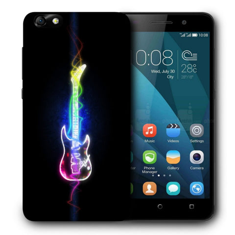 Snoogg Abstract Guitar Designer Protective Back Case Cover For Huawei Honor 4X