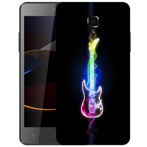 Snoogg Abstract Guitar Designer Protective Back Case Cover For Swipe Elite 2 Plus