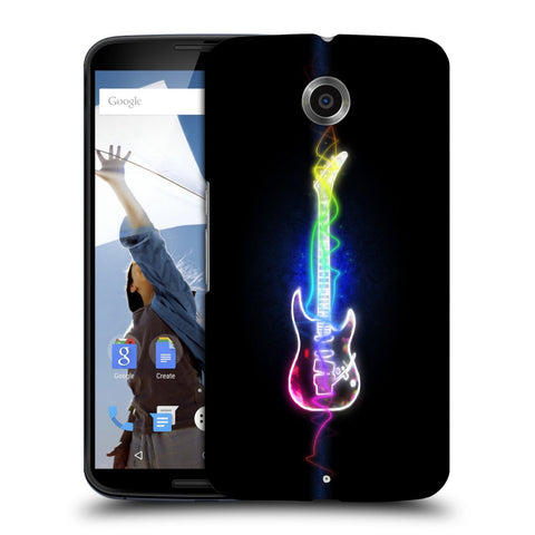 Snoogg Abstract Guitar Designer Protective Back Case Cover For Motorola Nexus 6